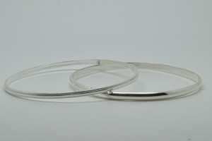 Coppins Silver Bangles